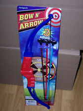 NEW CHILD'S BOW & ARROW ARCHERY SET INCLUDES BOW, 3 ARROWS & TARGET IN/OUTDOORS