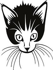 Cat close up Vinyl Wall decal or for car