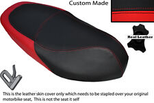 BLACK & RED CUSTOM FITS PIAGGIO TYPHOON 125 50 11-13 DUAL LEATHER SEAT COVER