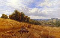"Dream-art Oil painting farmers have a rest in autumn Harvest season canvas 36"""