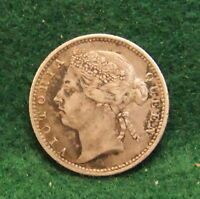 1900 Straits Settlements 10 Cents Silver Coin Malaysia KM 11 Victoria Malay Era