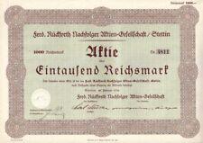 Ferd. Rückforth Nachfolger AG  1938  Stettin/ Szczecin