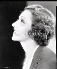 Stunning CLAUDETTE COLBERT 1930s Portrait Original Camera NEGATIVE 140S