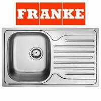 FRANKE POLAR SINGLE 1.0 BOWL DRAINER & WASTE STAINLESS STEEL KITCHEN SINK