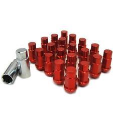 M12 X 1.25mm Red Aluminum Wheel Lug Nuts w/Lock Impreza Legacy Loyale SUX Justy