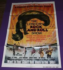 THE LONDON ROCK AND ROLL SHOW MOVIE POSTER ORIG 1 SH 1975 MICK JAGGER