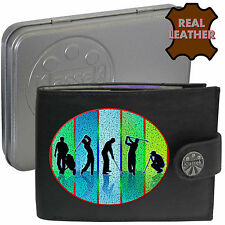 Golf Players Clubs Stroke Klassek Leather Wallet Golf Accessory gift present Tin