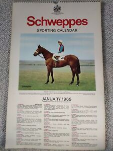 Schweppes 1969 Sporting Calender