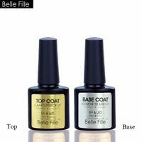Belle Fille Top & Base Coat Gel Polish Long-lasting Soak Off UV LED Cured Nail