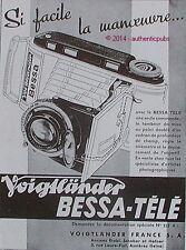 PUBLICITE VOIGTLANDER APPAREIL PHOTO BESSA TELE SCHOBER & HAFNER DE 1939 AD PUB