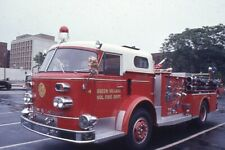 Green Village NJ 1966 American LaFrance Pumper - Fire Apparatus Slide