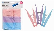 New  40 PACK  Heavy Duty Plastic Storm Clothes Pegs Clothes Dryer Clips -