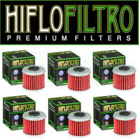 HiFlo Kawasaki Motocross Oil Filters KXF 450 (06-18) HF112 6 Pack
