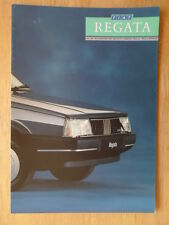 FIAT REGATA orig 1987 UK Mkt sales brochure - Turbo DS 100S