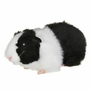LIVING NATURE GUINEA PIG PLUSH SOFT TOY WITH SOUND 20CM BLACK STUFFED ANIMAL