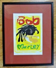"""Bob Marley Framed Lithograph Limited to Only 100 Signed by Artist 10.75"""" x 13.5"""""""