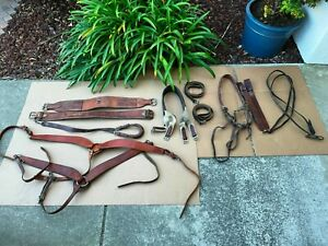 Lot of Used Leather Western Horse Tack