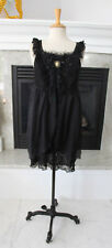 PRETTY ANGEL NWT Black Lace Gothic Angelic Cameo Babydoll Sexy Sheer Dress M