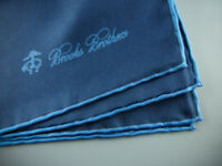 BROOKS BROTHERS Silk Pocket Square Handkerchief 100% Silk Navy NWOT $55 New