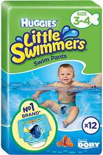 Huggies little swimmers swim pantalon taille 3-4 petit 7-15kg (12) livraison gratuite au royaume-uni