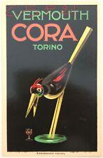 VERMOUTH CORA TORINO cartolina pubblicitaria illustratore Maga
