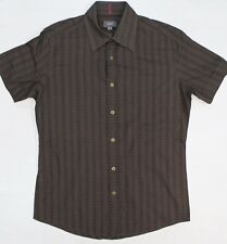 Mexx brown cotton fitted shirt size S short sleeve