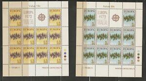 MALTA SG 478/81 1972 EUROPA SHEETLETS MNH