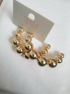 Freedom At Topshop Gold Ball Large Round Earrings
