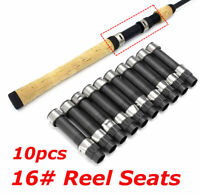 10Pcs DPS Style 16# Black Plastic Reel Seat Spinning 105mm Rod Building