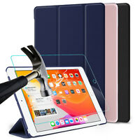 For iPad 7th Generation 10.2 inch Smart Tablet Case Cover With Screen Protector