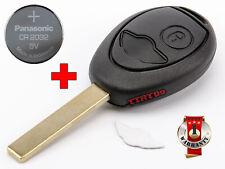 TELECOMMANDE CLE COQUE MINI COOPER R50 R53 ONE D CLUBMAN CABRIO +BATTERIE CR2032