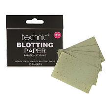 Technic Blotting Paper, Green Tea Infused Oil Absorbing Shine Control  50 Sheets