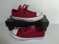 CONVERSE CHUCK TAYLOR ALL STAR Ladies Burgundy Lace Up New Shoes Trainers Size 3
