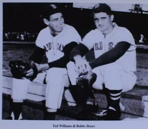 Ted Williams & Bobby Doerr Boston Red Sox Fenway Park Dugout Photograph 4x6