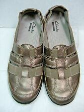 Clarks Collection Womens Loafers Shoes 13291 Size 7 M bronze Leather  #JS