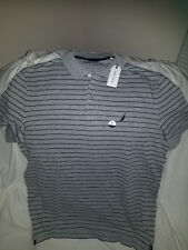 Nautica camisa tipo polo para Hombres color gris con negro - Polo shirt for men