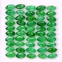 Natural Emerald 2x4 MM Marquise Cut Green Loose Untreated Gemstone Lot