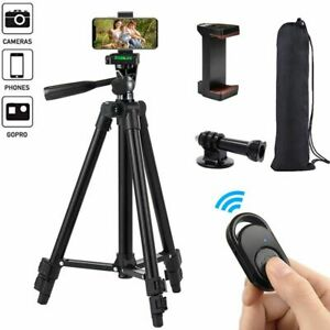 Camera Phone Tripod 50 Inch Lightweight Aluminum Stand Holder Remote For GoPro