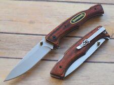 Couteau Browning Safari Pakkawood Lame Acier Inox Manche Bois BR0177