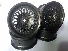 Rc Car 1/10 Drift FM Spoke Rim Wheel 6mm Offset fit Tamiya HPI 12mm hex GM