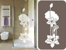 Glas Dekor Aufkleber gravur Lotus Blume Dusche Duschkabine Fenster Spiegel Bild