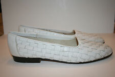 Men's Brogano by Cole Haan White Woven Leather Loafers Size 10 B Made in Italy