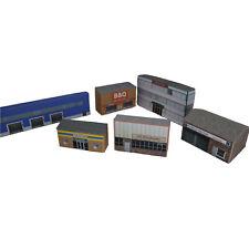 More details for 1:101 card tt gauge model railway industrial warehouses 6x buildings p-i-001 int