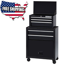 Kobalt 5 Drawer Rolling Tool Chest Box Cabinet Garage Storage Toolbox Organizer