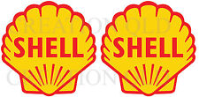 SHELL GASOLINE OIL Decal Sticker Vintage Retro Mancave Hot Rod Stickers