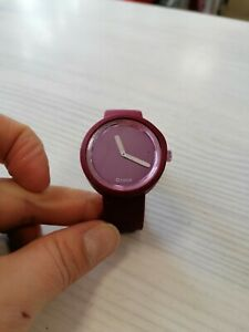 Orologio O Bag O Clock , color magenta, in gomma,
