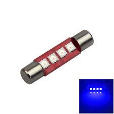 1x Blue 29mm RV T6.3 Fuse Blub Car Sun Visor Lamp 4 SMD3030 LED Light 12V Z3065