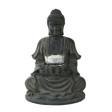 Meditate Buddha Statue Oriental Eastern Candle Holder Yoga SPA Decoration Zen