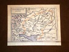 Mappa Verona Theatrum Orbis Terrarum 1724 Abraham Ortelius Ortelio Ristampa