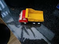 Vintage Tonka Dump Truck Pressed Steel red/yellow